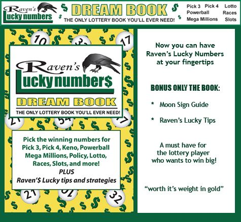 Raven 39 S Free Lottery Number Lottery Book Lottery Numbers Lotto Numbers