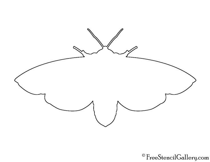 Tiger Moth Silhouette Stencil