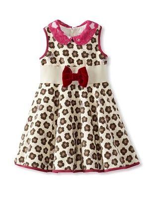 55% OFF Monnalisa Girl's Velvet Dress (Spotted)