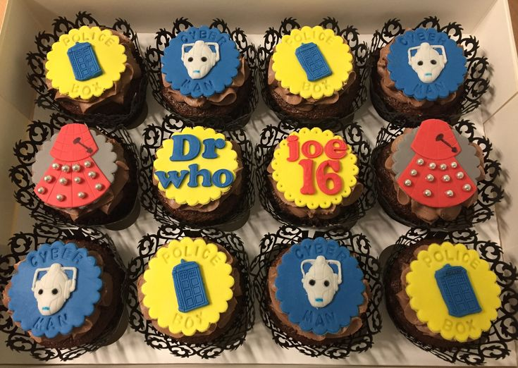 Dr who cupcakes by Dawn's Cupcake Couture