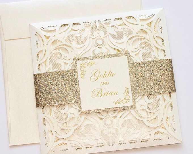 Glitter Wedding Invitation Lace Wedding Invitation Vintage Etsy Lace Wedding Invitations Elegant Vintage Wedding Invitations Lace Glitter Wedding Invitations
