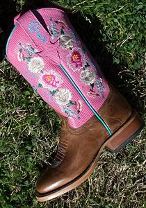 Kids cowboy boots - handmade just like mom and dad's!