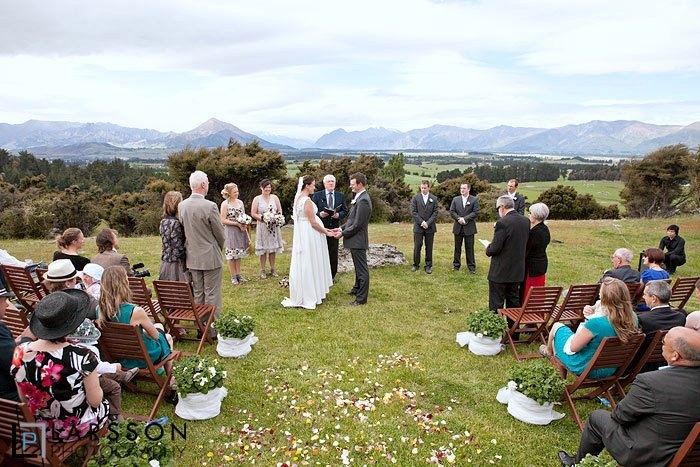 Stunning view beyond the ceremony site. Larsson Photography.