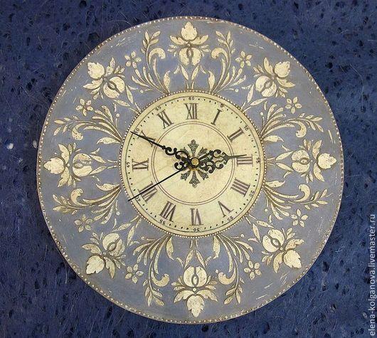 """Часы для дома ручной работы. Ярмарка Мастеров - ручная работа. Купить Часы настенные """"Флорентийский ирис"""" интерьерные. Handmade. Голубой"""