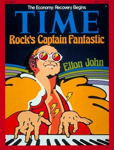"July 7, 1975 Time Magazine. My favorite song from Captain Fantastic: ""Writing."" Lots of Elton music in The Cusp of Everything."