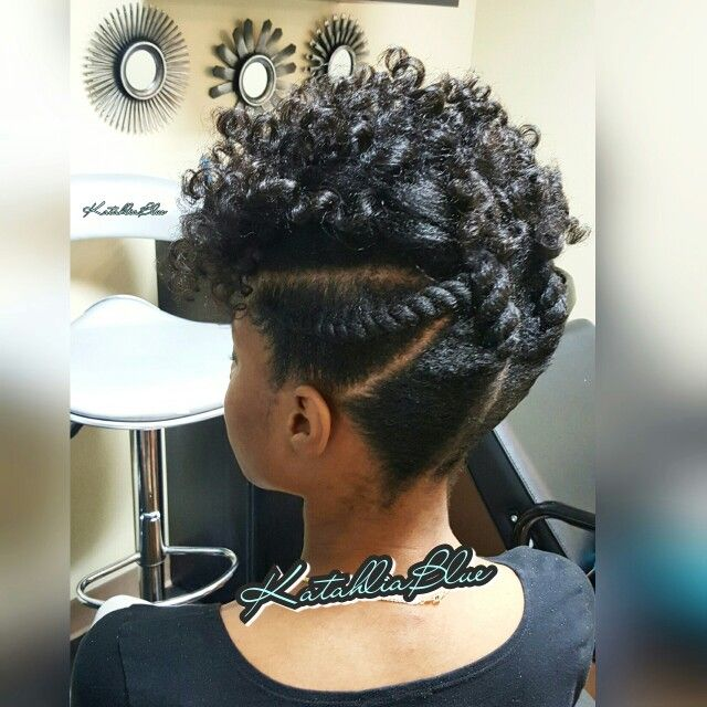 Natural Hair Updo..Flexi Rod Set..Flat Twist