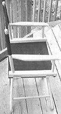 Side view of completed chair.