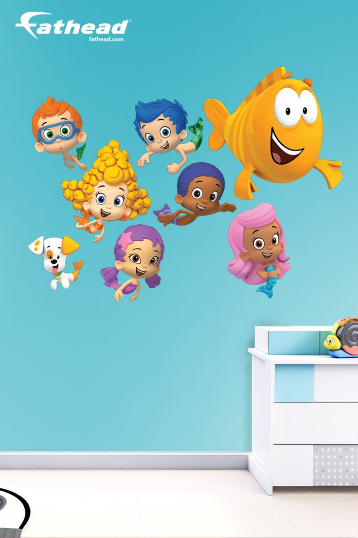 1000 images about diy girls bedroom decor ideas wall decals fathead custom decals wall - Bubble guppies bedroom decor ...