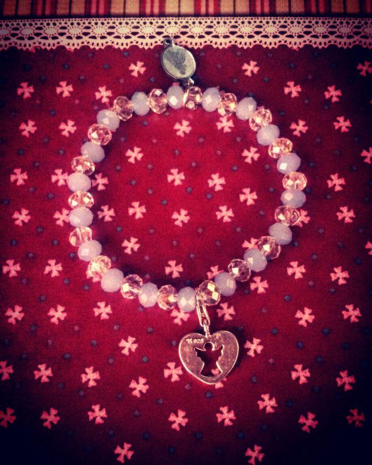 👼🎁Bracciale celestiale con charm in pendant...gli angeli nel nostro quotidiano...👼🎁 #CreaCi #colcuore #creatività #handmadeaccessories #bijouxfantasie #bijouxpersonalizzati #charms #pendant #angels #divine #swarovski #bijoux #accesorizes #bijoubrigitteaccessoires #bijoubrigitte #morellato #swarovski #kisskissgioielli #boccadamo #rosatogioielli #pandora