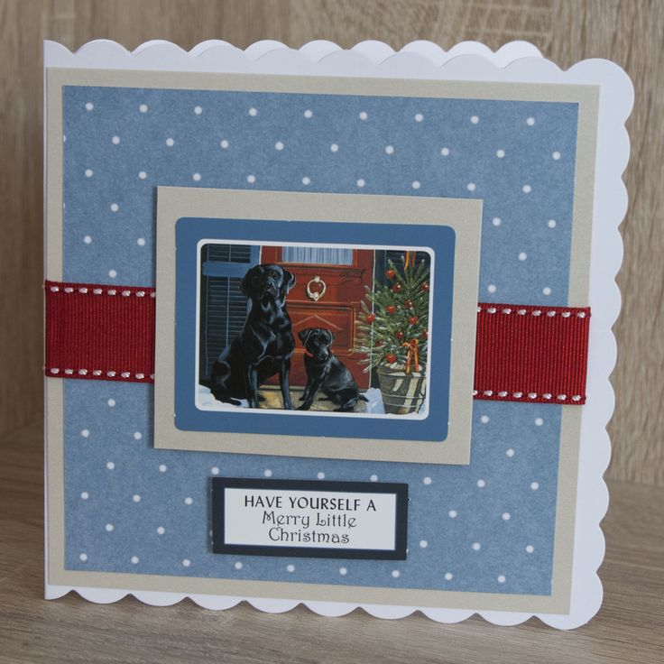 Handmade Christmas Card made with Christmas moments by Pollyanna Pickering