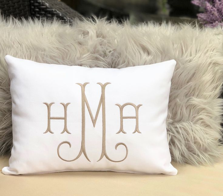 Throw Pillow Monogram Pillow Dorm Pillow Home Decor Pillow Cover Dorm Decor Wedding Gift Shower Gift Nur Monogram Pillows Dorm Pillows Dorm Decorations