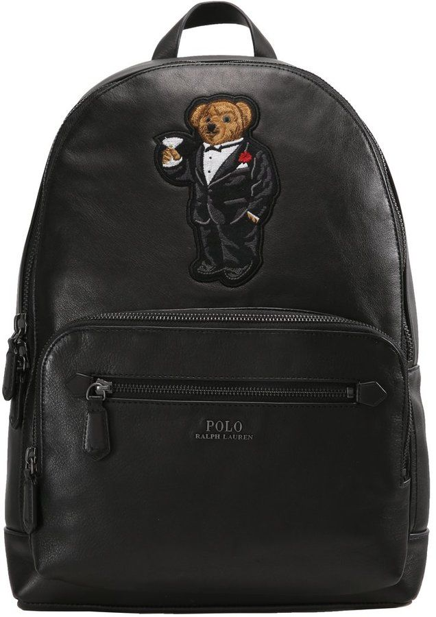 Polo Ralph Lauren MARTINI BEAR BACKPACK Rucksack black   Polo ralph ... efa07778a84
