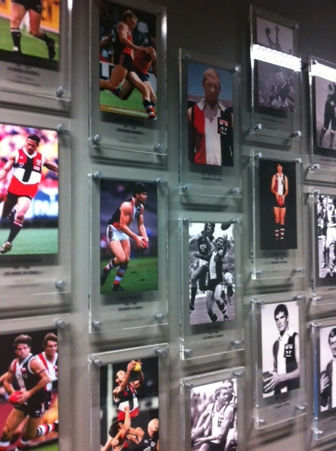 St Kilda Saints Legends Wall created by Taos #stkildasaints #interior #graphics