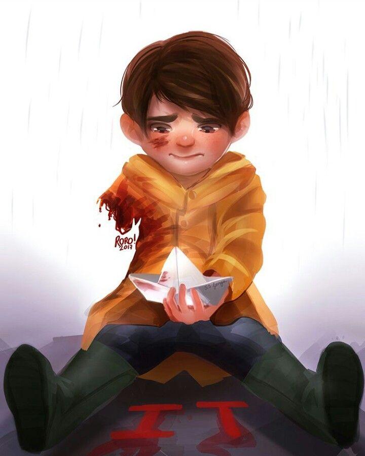 When I saw that scene I felt sooo bad for Georgie I was like NO U F*cking clown I'm gonna kill u! How could u do that to an adorable little kid!!!  anbdbrbxjjkhdb
