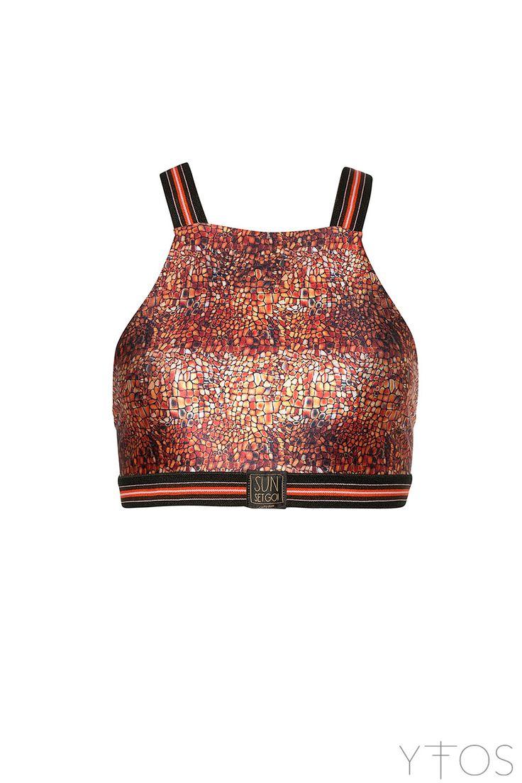Yfos Online Shop | Activewear | Agave Croco Athletic Top by Sun Set Go