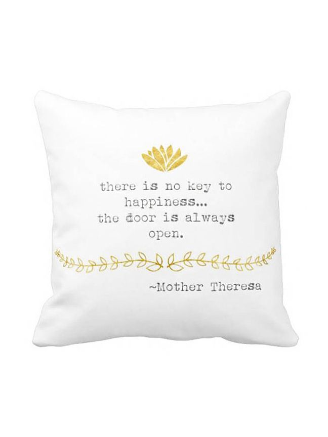 Pillow Cover Inspirational Mother Theresa Quote