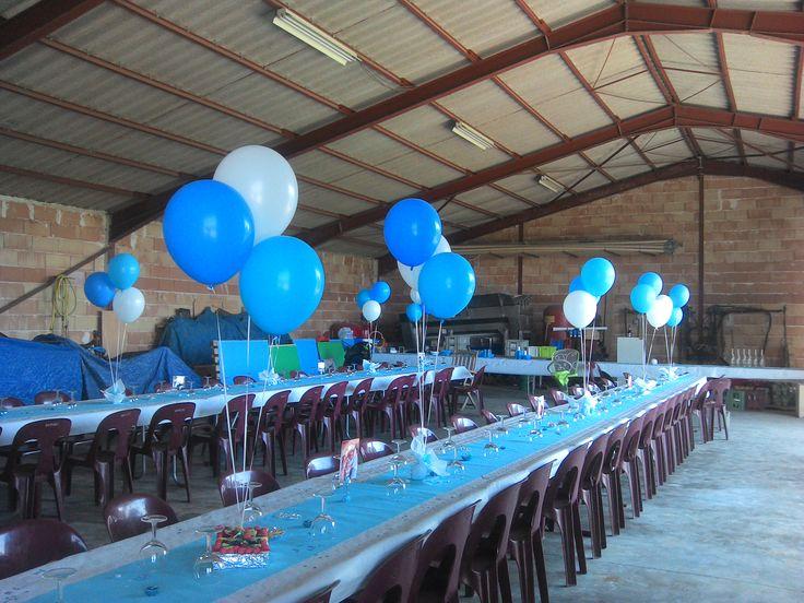 Décoration baptême centre de table