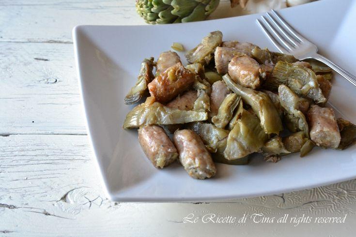 Salsiccia e carciofi in padella