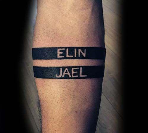 arm band name tattoo kol bandı isim dövmesi