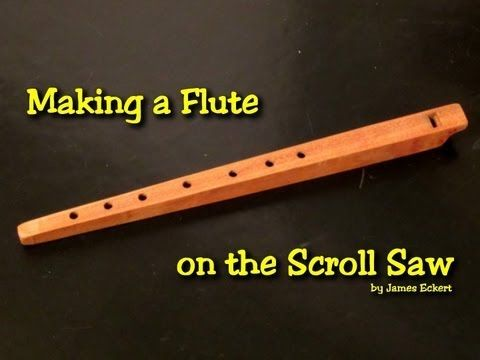 Making a Wooden Flute video tutorial for the scroll saw (and drill press) . #woodworking #DIYinstrument  Plans for sale on jeplans.com  http://youtu.be/D4-ndIBbzHI