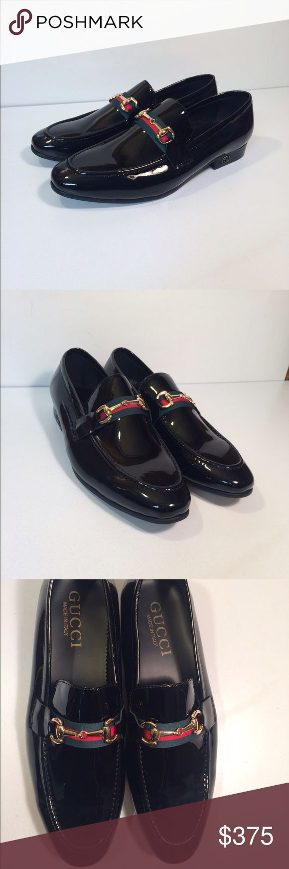 Gucci Men's Slip On Loafers Dress Shoes Gucci Men's Slip On Loafers Dress Shoes ... Size: EU 44 / US: 10.5 ... Color: Black ... Material: Patent Leather ... Condition: New Without Box / Tags. Gucci Shoes Loafers & Slip-Ons