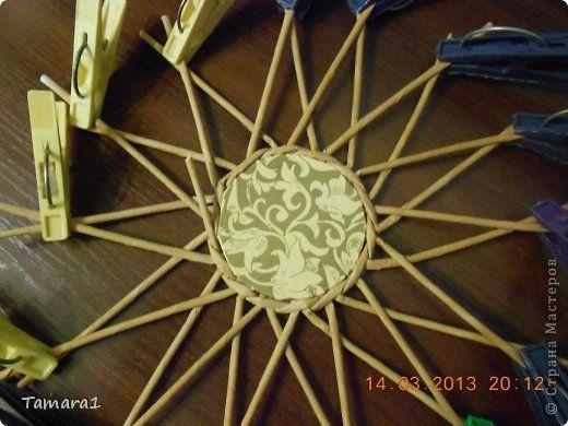 Поделка изделие Плетение Комби Бумага газетная Трубочки бумажные фото 5