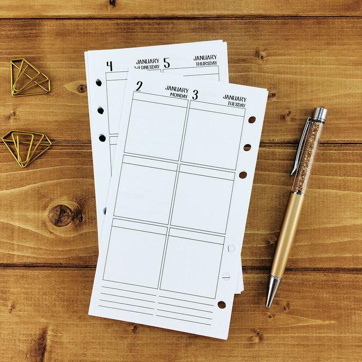 Personal 2017 Weekly Vertical Printed Planner Calendar