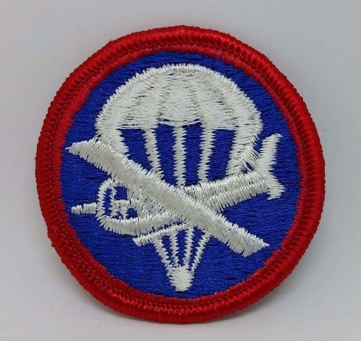 US Army Military Airborne Paraglider Infantry Garrison Hat Embroidered Patch #Patch