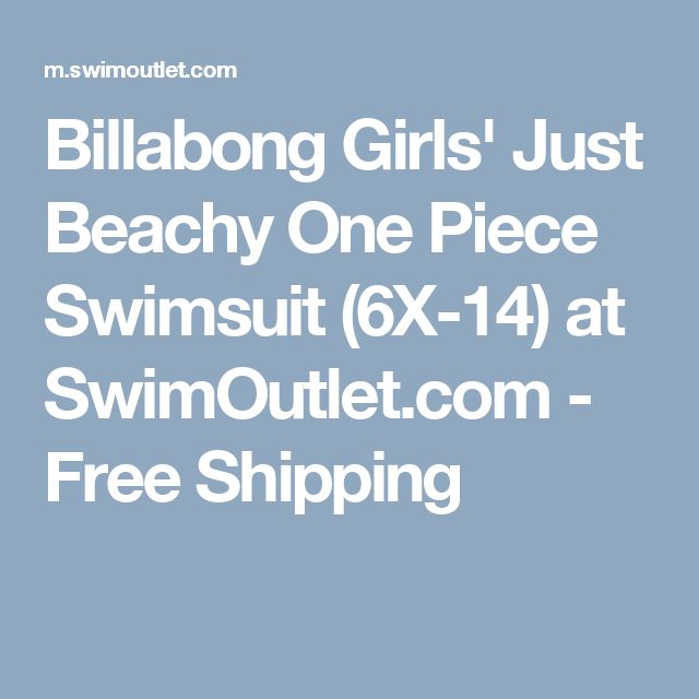 Billabong Girls' Just Beachy One Piece Swimsuit (6X-14) at SwimOutlet.com - Free Shipping