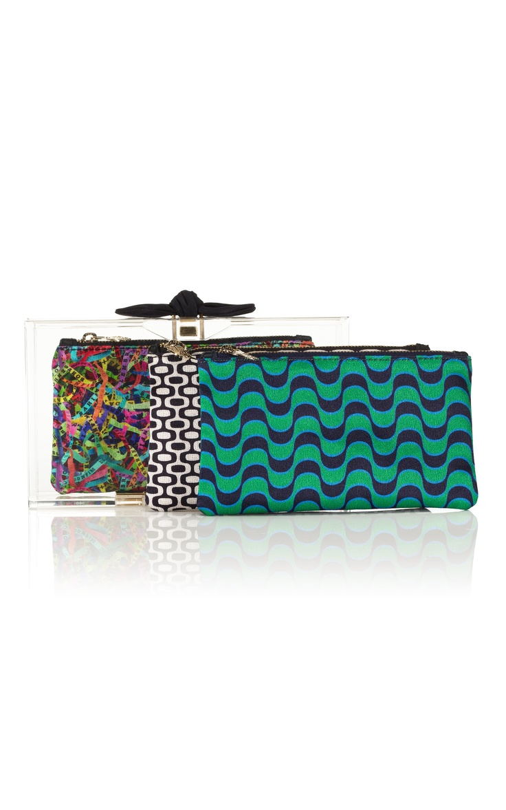 Charlotte Olympia Pandora Bow Clutch with three new inserts! #todiefor