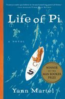 Life of Pi by Yann Martel. The son of a zookeeper, Pi Patel has an encyclopedic knowledge of animal behavior and a fervent love of stories. When Pi is sixteen, his family emigrates from India to North America aboard a Japanese cargo ship, along with their zoo animals bound for new homes. The ship sinks. Pi finds himself alone in a lifeboat, his only companions a hyena, an orangutan, a wounded zebra, and Richard Parker, a 450-pound Bengal tiger.