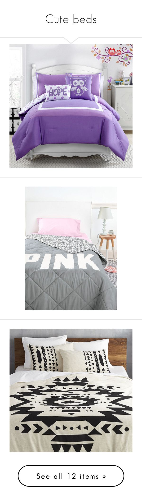 Twin bedding guest room -  Cute Beds By Nelson Iv Liked On Polyvore Featuring Home Bed