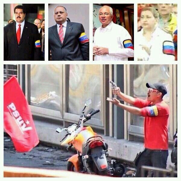 Esta es la paz que profesa el Gobierno Venezolano!. Los tupamaros en plena accion de Paz