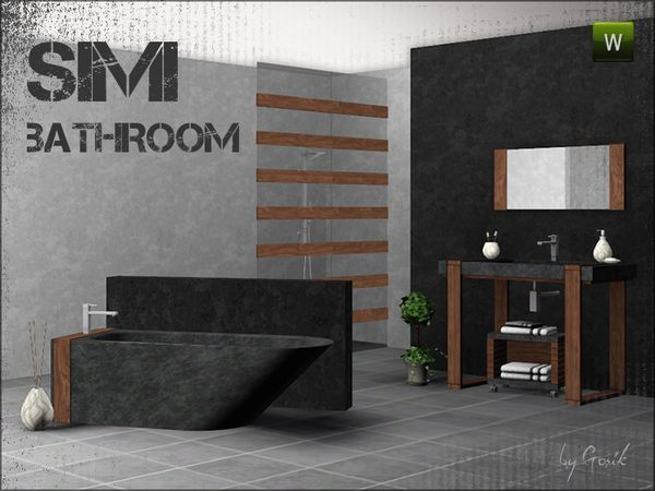 Simi Bathroom By Gosik   Sims 3 Downloads CC Caboodle