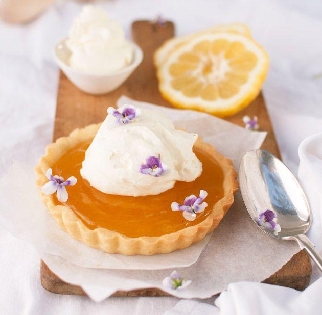Lemon tart recipe using native Australian lemons (you can substitute for regular lemons)