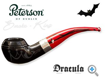 When the Dracula 999 pipe by Peterson was released in 2011 they sold out in the United Kingdom within hours. You really can see why. Sitting beautifully between the flawless black ebony bowl and the striking red and black marbled fishtail mouthpiece, there is a perfectly proportioned nickel band with the Dracula name etched on to it. Peterson has entered the dark side but the Dracula pipe is a handsome, well-balanced piece of art.