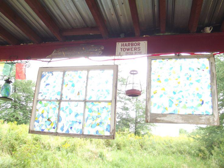 Folk art glass windows, Nova Scotia