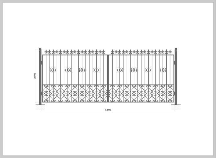 Wrought iron gate Ворота распашные Артикул:v_r_03 Ширина, мм:5000 Высота, мм:2000 Покрытие:Пентал Амор Цена: 53 200 руб./шт. Подробное описание на сайте #Metalmade