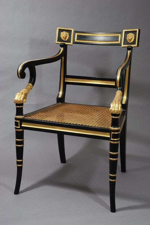 Antiques Atlas - Regency Style Open Armchair