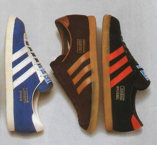 A lovely composition showing three original, classic City Series trainers - Blue Athen, Brown Amsterdam and Black Brussels