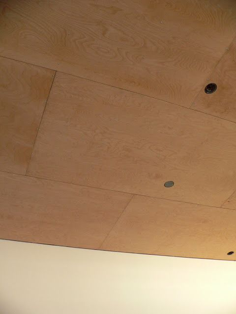 the little forest house: plywood ceilings?