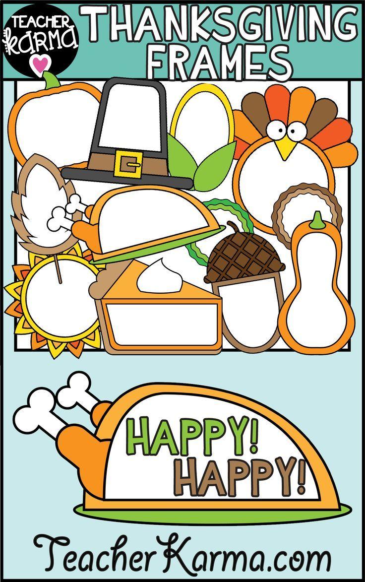 thanksgiving frames clipart holiday borders clip art for tpt pinterest teacher clip art and classroom [ 736 x 1173 Pixel ]