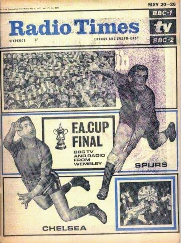 The Radio Times in May 1967 featuring the Tottenham v Chelsea ...