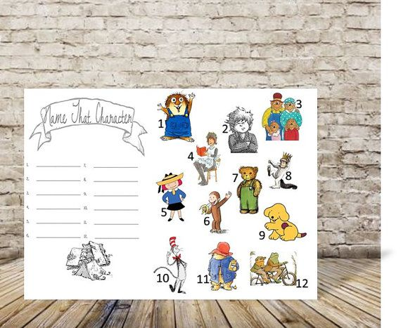 Baby Shower Game  Library Theme Baby Shower  Book by TheDoubleDubs