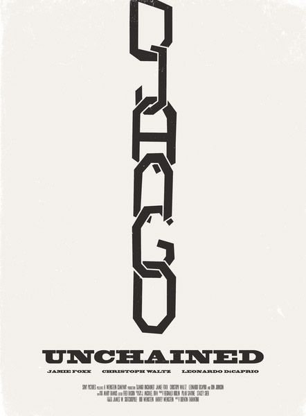 Alternative Movie Poster for Django Unchained by Aron Jones