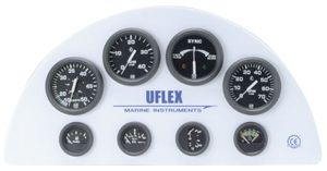 En oferta Reloj Indicador Posicion Trim Uflex negro 53 mm para motores Johnson-Evinrude