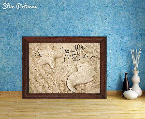 Beach romance picture. Wall art decor. Printable by StarPictures, £3.00