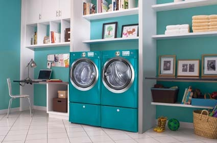 turquoise washer and dryer