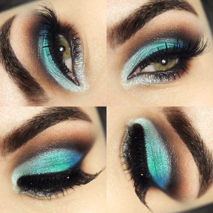 makeup-verde-cut-crease com o quarteto de sombras 03 encanto Koloss