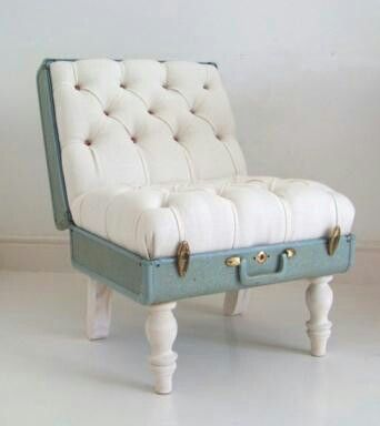 Chair made out of a Suitcase